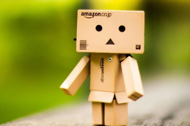 AMAZON robot cartone